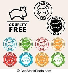 icono, libre, crueldad, señal