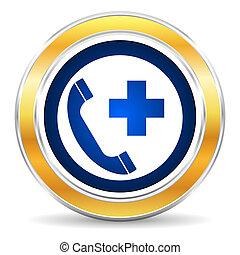 icono, llamada, emergencia
