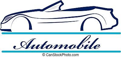 icono, logotipo, coche, silueta