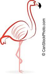 icono, logotipo, flamenco
