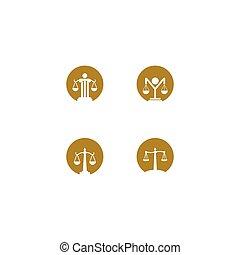 icono, logotipo, vector, ley
