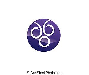 icono, logotipo, vector, uva