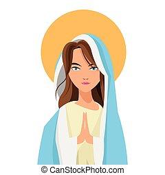 icono, maría virgen, santo