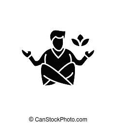 icono, meditación, glyph