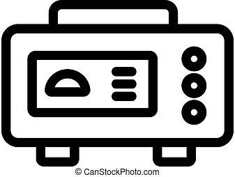 icono, multifunctional, generador, eléctrico, contorno, vector, ilustración