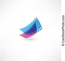 icono, película, onda
