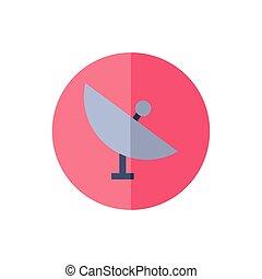 icono, placa, aislado, antena, comunicación