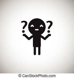 icono, plano, design., humano, preguntas