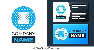 icono, plantilla, vector, logotype, element., yeso, fondo., ...