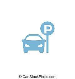 icono, playa de estacionamiento