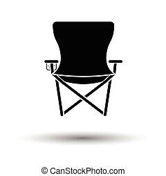 icono, plegadizo, pesca, silla