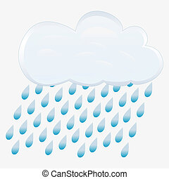icono, rain., vector