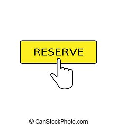 icono, reserva, vector, botón