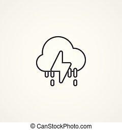 icono, símbolo, vector, tormenta, señal