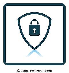 icono, seguridad, datos