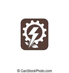 icono, servicio, vector, eléctrico, instalación
