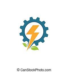 icono, servicio, vector, ilustración, eléctrico, instalación