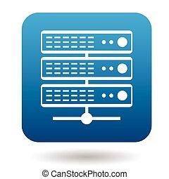 icono,  simple, estilo, base de datos