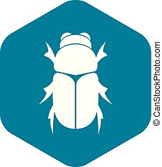 icono, simple, estilo, chafer, escarabajo