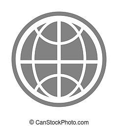 icono, sitio web, vector