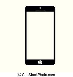 icono, smartphone, vector