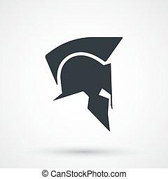 icono, spartan, casco