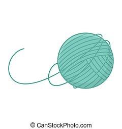 icono, tejido, equipo, pelota, diseño, lana