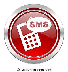 icono, teléfono, sms, señal