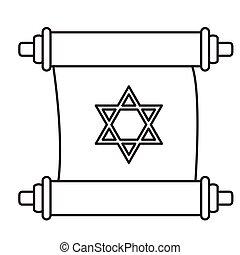 icono, tradicional, torah