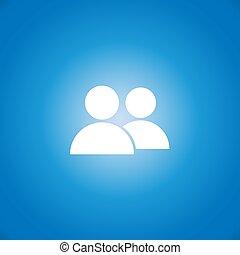 icono, vector, dos personas