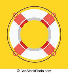 icono, vector, lifebuoy