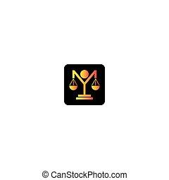icono, vector, logotipo, ley