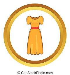 icono, vector, vestido, imaginación, womens