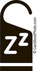 icono, zzz, hotel, ilustración, manija, etiqueta