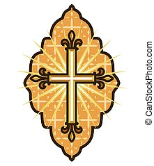 Iconography - Vector illustration of the orthodox motif with...