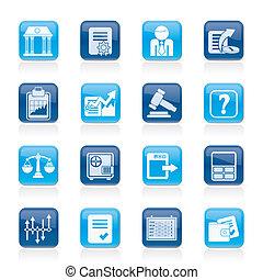 iconos, acción, finanzas, intercambio