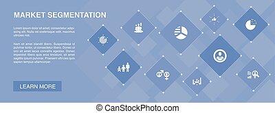 iconos, bandera, segmento, segmentation, edad, concept., ...