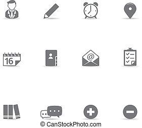 iconos, colaboración, color, -, solo
