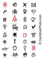 iconos, colección, para, su, diseño