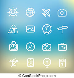 iconos,  Color,  clip-art, vacaciones, Plano de fondo, blanco