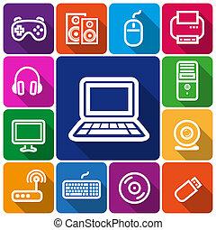 iconos, computadora