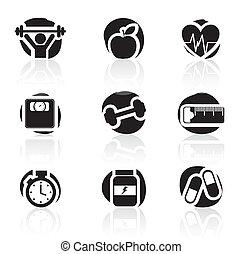 iconos, condición física