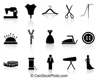 iconos, conjunto, sastre