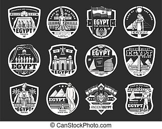 iconos, cultura egipcia, religión, viaje