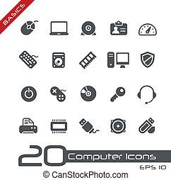 iconos de computadora, //, fundamentos