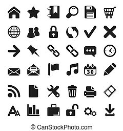 iconos de la tela, conjunto