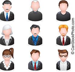 iconos de la tela, -, empresa / negocio