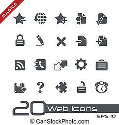 iconos de la tela, //, fundamentos