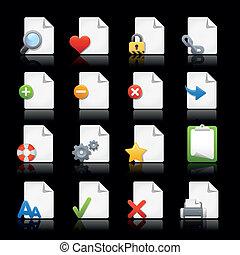 iconos de la tela, //, páginas