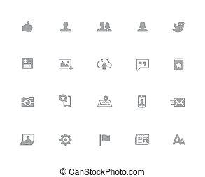 //, iconos de la tela, serie, 32px, social, blanco